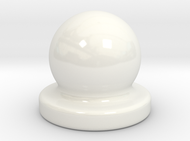 Porcelain Door Nob Plug in Gloss White Porcelain