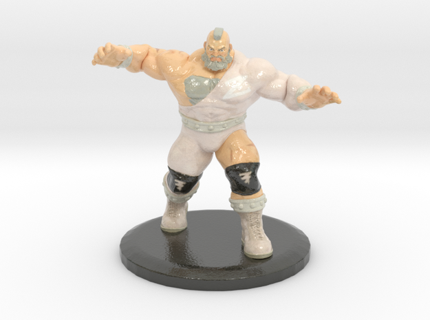 Zangief (Street Fighter V Fan Art) in Glossy Full Color Sandstone