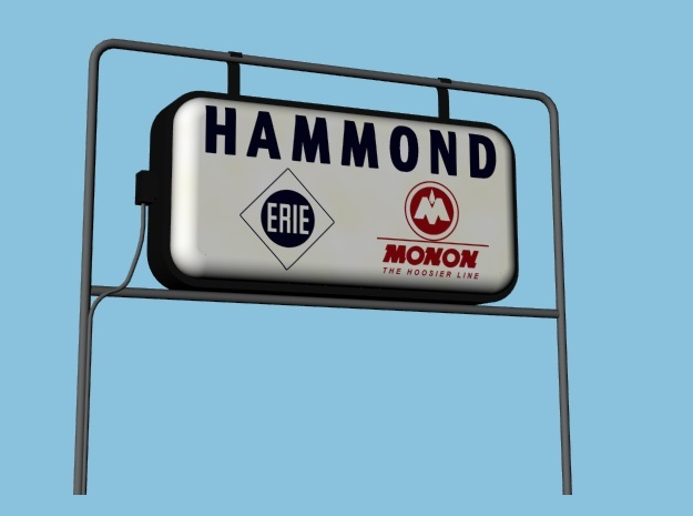 Monon Station Signs - HO, Four Pack in Smooth Fine Detail Plastic