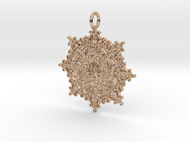 Classian Pendantian in 14k Rose Gold Plated Brass