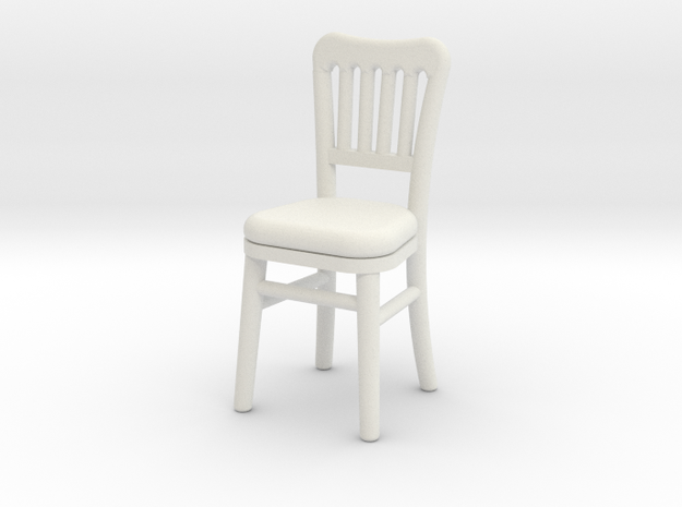 1:48 Cheltenham Chair in White Natural Versatile Plastic