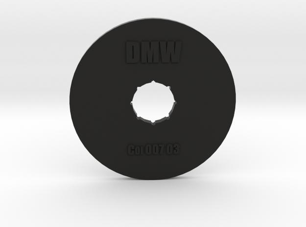 Clay Extruder Die: Coil 007 03 in Black Natural Versatile Plastic
