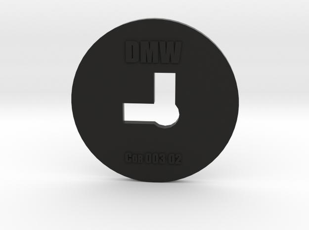Clay Extruder Die: Corner 003 02 in Black Natural Versatile Plastic
