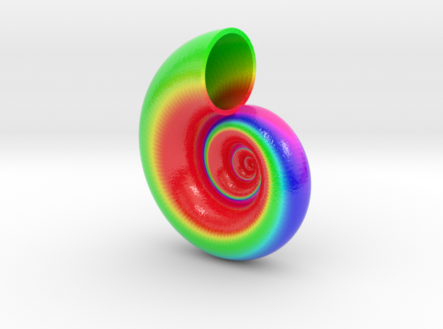 Seashell Tangent 01 Color Sculpture in Coated Full Color Sandstone