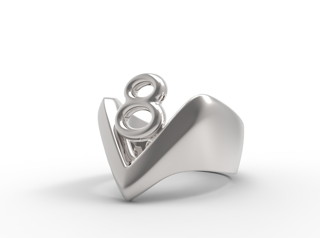 RINGTWO in Polished Silver