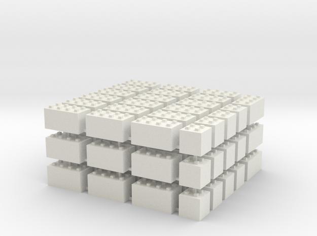1/87 HO Bausteine fuer Schuettgutboxen, 57+12 in White Strong & Flexible