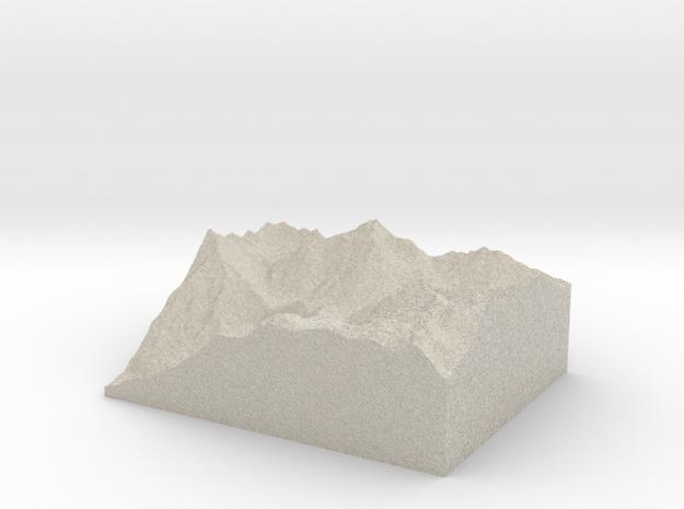 Model of Lago Barbellino in Natural Sandstone