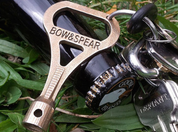 DruNKey v2.0 - A Drum Key Bottle Opener in Polished Bronze Steel