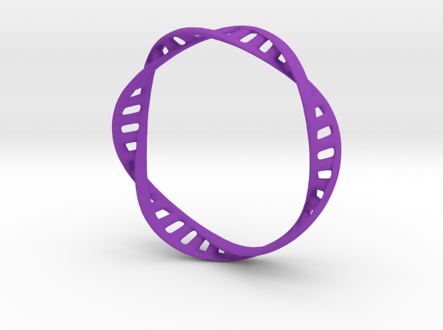 DNA Bracelet (Large) in Purple Processed Versatile Plastic