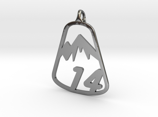 Classic 14er Pendant in Polished Silver