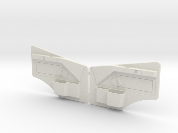 FRONT PANEL MB SK  in White Strong & Flexible