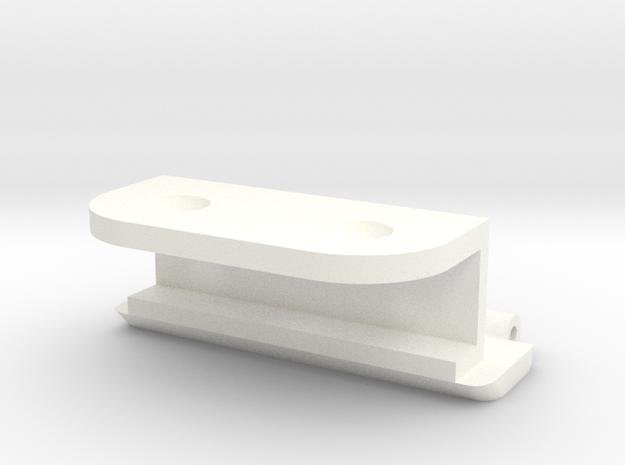 Kastscharnier-v03 deel A in White Processed Versatile Plastic