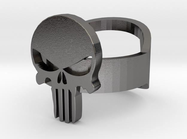 Punisher Bottle Opener Ring 3d printed