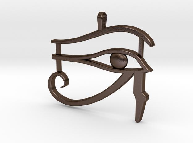 Eye of Ra in Polished Bronze Steel