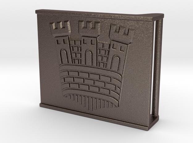 Castle belt buckle 3,7 cm in Stainless Steel