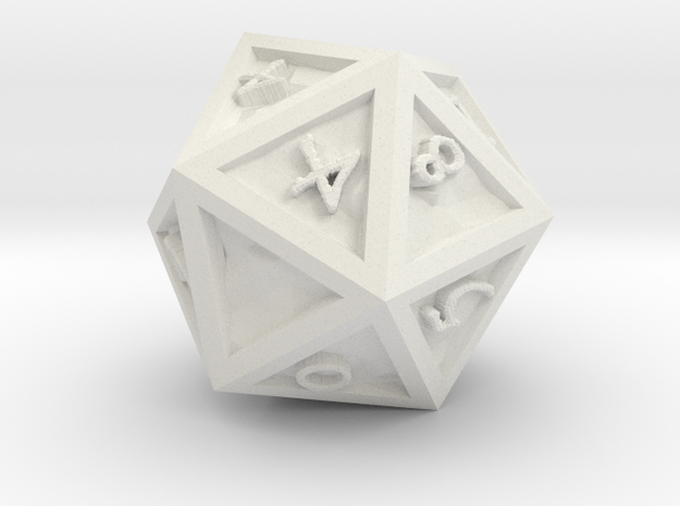 D 20 Dragonclaws in White Natural Versatile Plastic