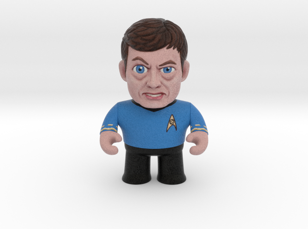Dr. McCoy Star Trek Caricature in Full Color Sandstone