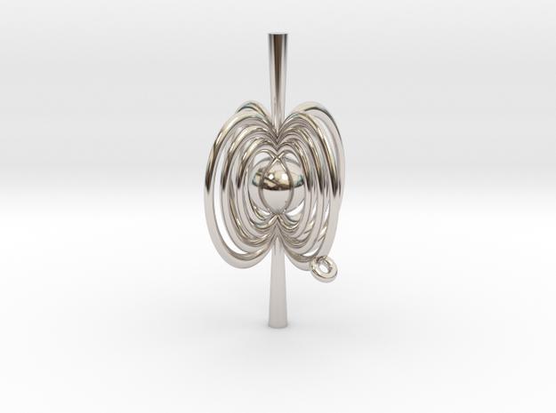 Pulsar Pendant in Rhodium Plated Brass