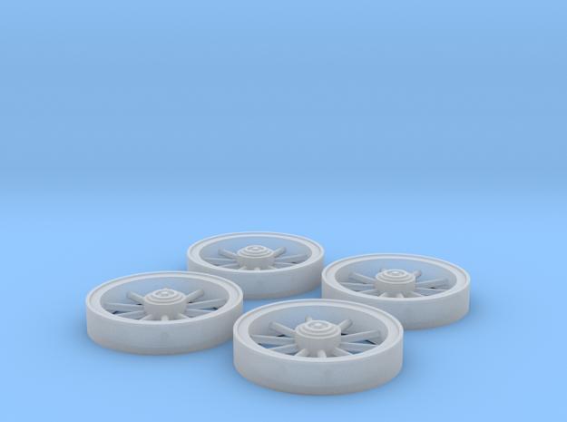 Trolley Wheels (1:32) in Frosted Ultra Detail