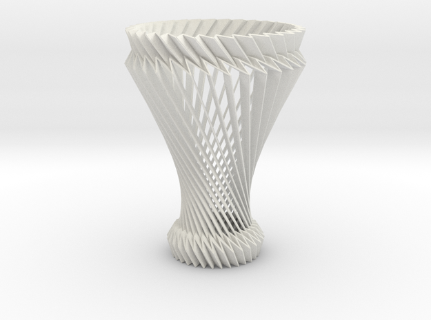 Hyperboloid Decorative Lamp V2 in White Strong & Flexible