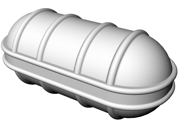 Life raft container A 5x 1/50 in White Strong & Flexible