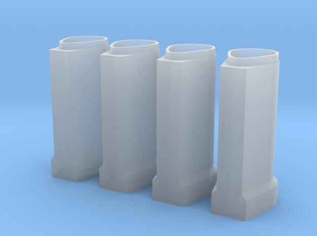 Betonnen ei buis 600/900 in schaal 1:87 4 stuks in Smooth Fine Detail Plastic