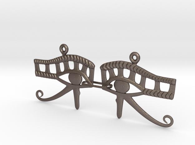 Eye Of Horus EarRings - Pair - Metal in Stainless Steel