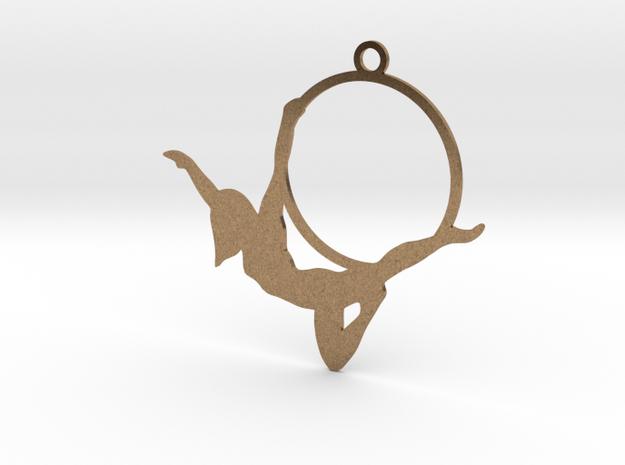 """""""Peterpan"""" Aerial hoop pose in Natural Brass"""