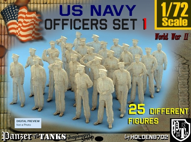 1-72 USN Officers Set1 in Frosted Ultra Detail