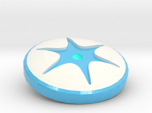 Engraved Shapeways Team - Supernova Soccer in Coated Full Color Sandstone