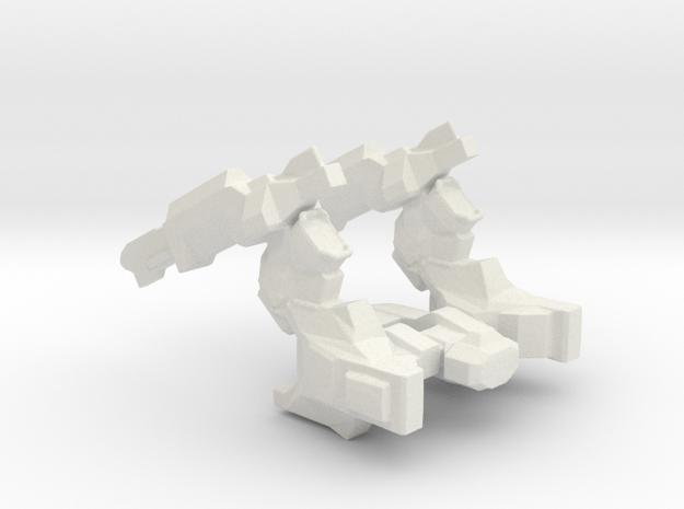 Cargo Crusher Spaceship in White Natural Versatile Plastic