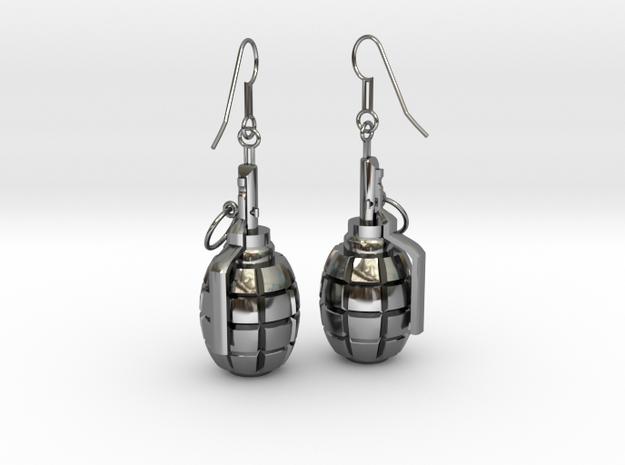 F1 Earrings 3d printed