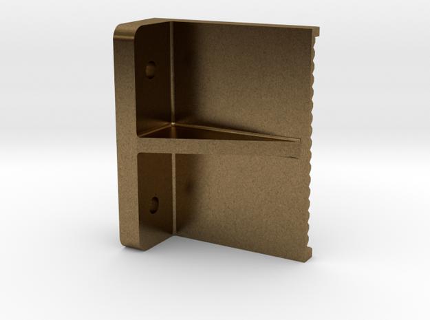 "3/4"" boiler step, flat back mount in Raw Bronze"