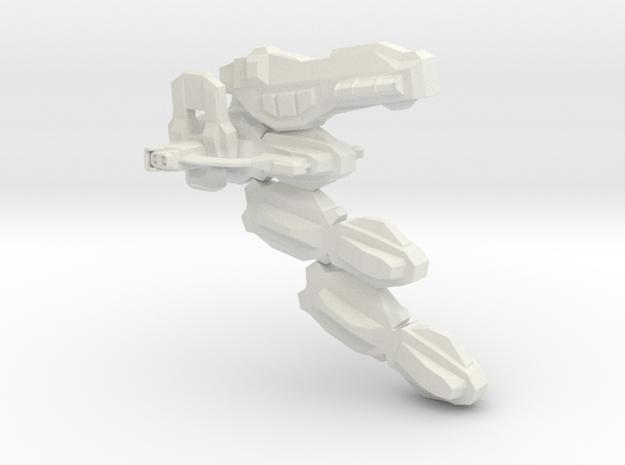 Uranium Cyber Diruso Spaceship in White Natural Versatile Plastic