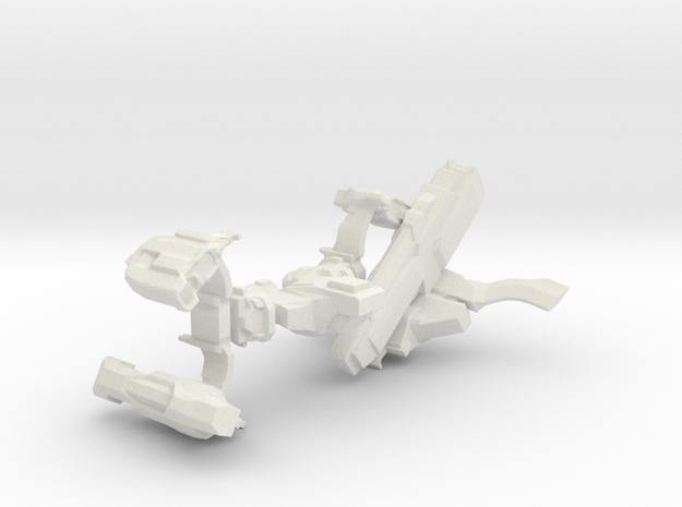 Leaping Interdictor Spaceship in White Natural Versatile Plastic