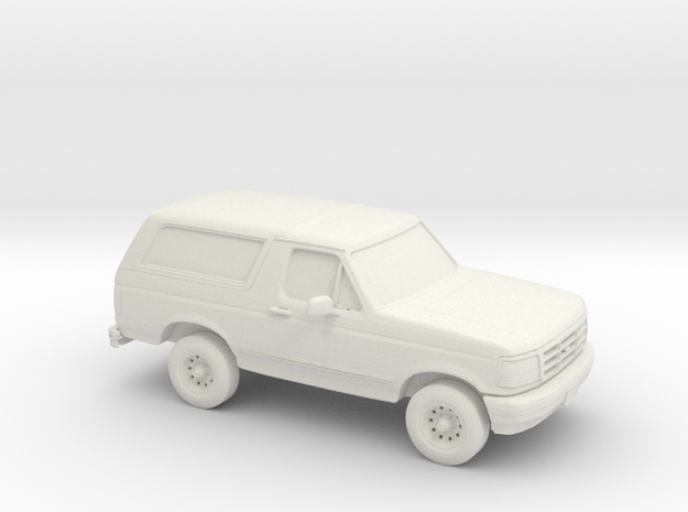 1/100 1995 Ford Bronco in White Natural Versatile Plastic