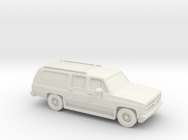 1/100 1986 Chevrolet Suburban in White Natural Versatile Plastic
