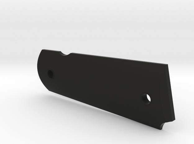 CUSTOM Colt 1911A1 right grip v. I in Black Natural Versatile Plastic