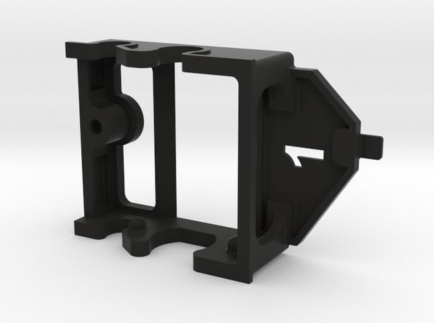 Fly Motor Pod ~ 1mm offset in Black Natural Versatile Plastic