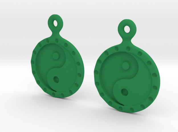 YinYang EarRings 1 - Pair - Plastic 3d printed