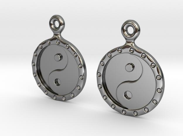 YinYang EarRings 1 - Pair - Precious Metal in Premium Silver