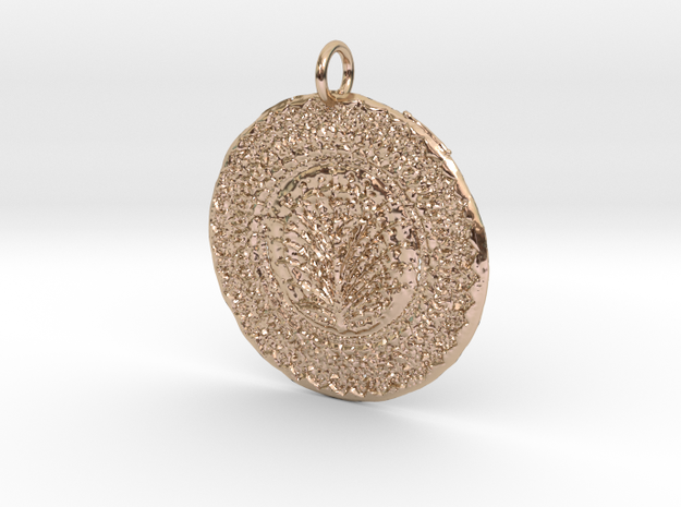 James Tru Green Pendant in 14k Rose Gold Plated