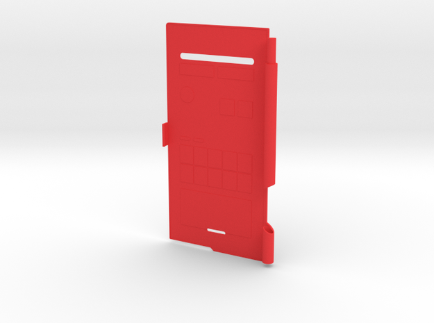 Pokedex Cover in Red Processed Versatile Plastic
