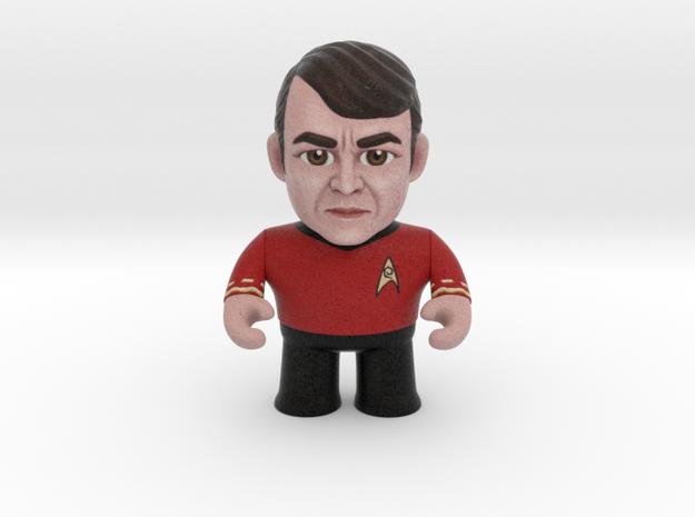 Scotty Star Trek Caricature in Full Color Sandstone