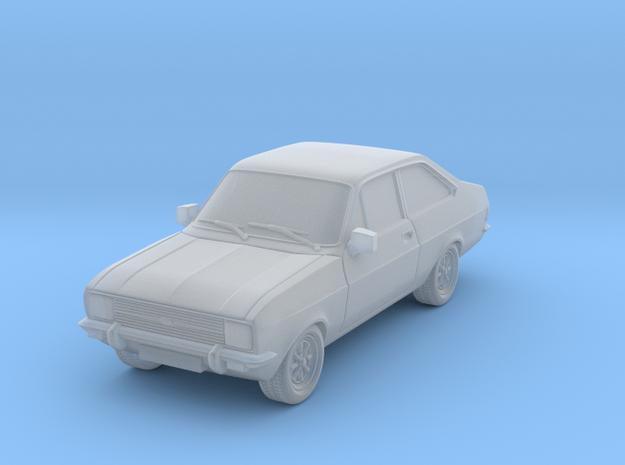 1:87 escort mk 2 2 door standard square headlights in Smooth Fine Detail Plastic