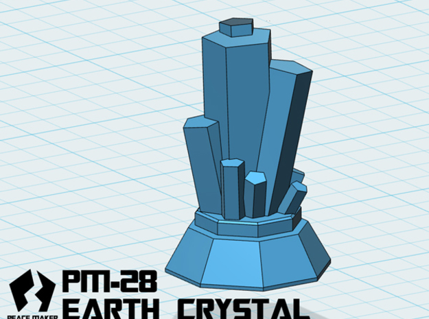 PM-28 EARTH CRYSTAL in White Strong & Flexible