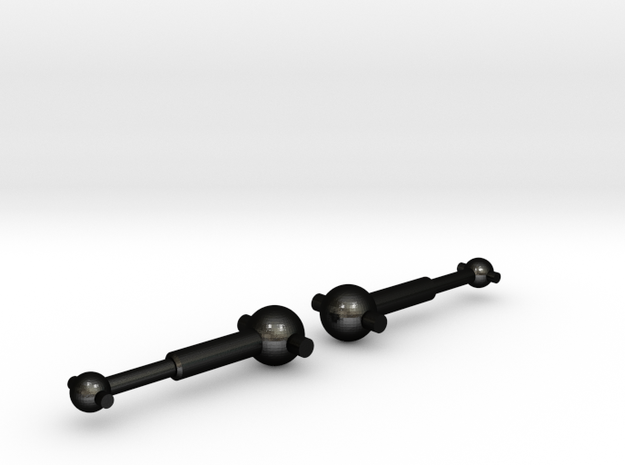NRC-32 Driveshafts / Dogbones in Matte Black Steel