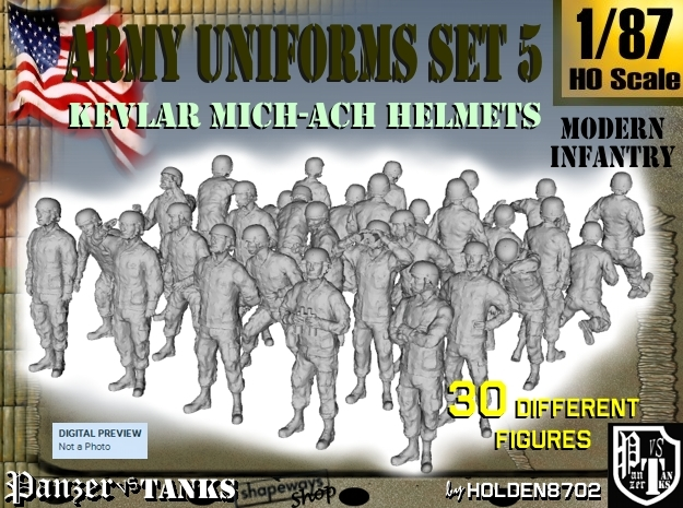1-87 Army Modern Uniforms Set5
