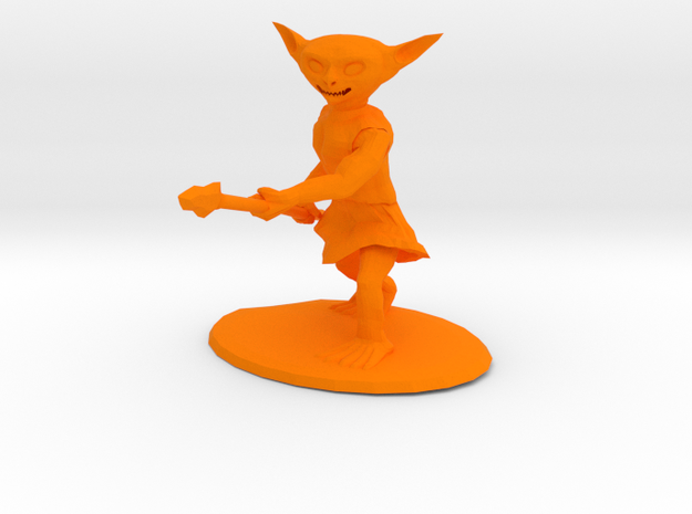 Goblin With Spear  3d printed