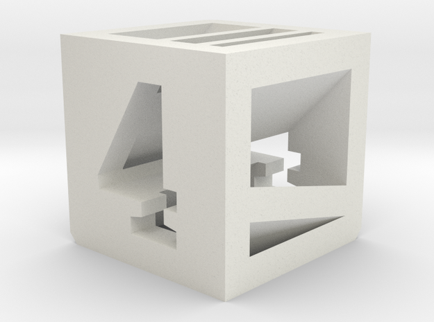 Photogrammatic Target Cube 4 in White Natural Versatile Plastic